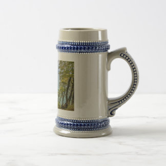 Coastal forest on the Baltic Sea coast Beer Stein