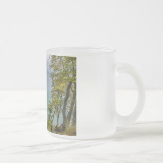 Coastal forest on the Baltic Sea coast Frosted Glass Coffee Mug