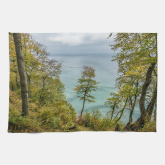 Coastal forest on the Baltic Sea coast Kitchen Towel