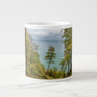 Coastal forest on the Baltic Sea coast Large Coffee Mug
