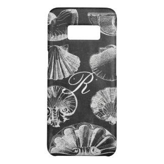 coastal french botanical art chalkboard seashells Case-Mate samsung galaxy s8 case
