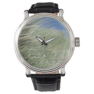 Coastal Grasses, Ocean View Wrist Watches