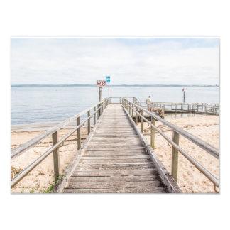 Coastal jetty beach scene photographic print