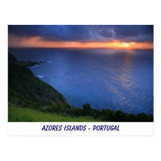 Coastal landscape postcard