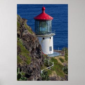 Coastal lighthouse, Hawaii Poster