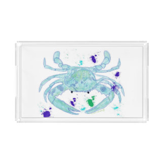 Coastal look crab serving tray