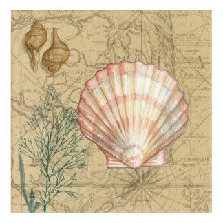 Coastal Map Collage Acrylic Wall Art