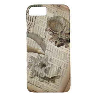 coastal modern vintage french botanical seashell iPhone 8/7 case