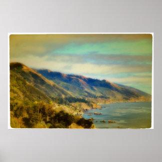 Coastal Mountains Poster