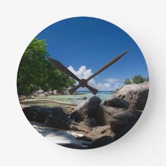 Coastal Naturescape Beach Vacation Wallclock
