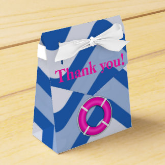 Coastal nautical ocean beach pink girly favor box