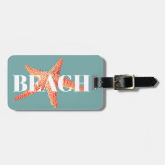 Coastal Ocean Starfish BEACH Luggage Tag