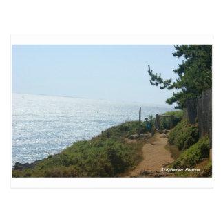 Coastal path Nevez BRITTANY Postcard