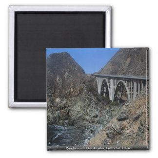 Coastal road of Los Angeles, California, U.S.A. Magnet