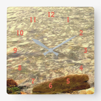 Coastal Rocks Square Wall Clock