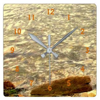 Coastal Rocks Square Wall Clock