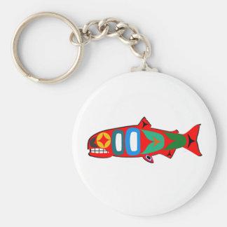 Coastal Salmon Keychain