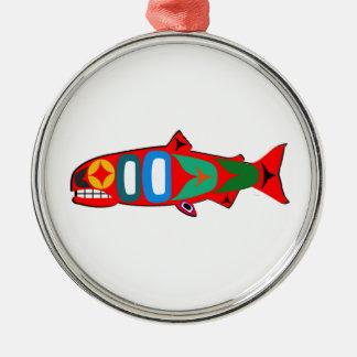 Coastal Salmon Metal Ornament