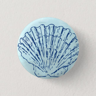 Coastal Sea Shell Watercolor Button