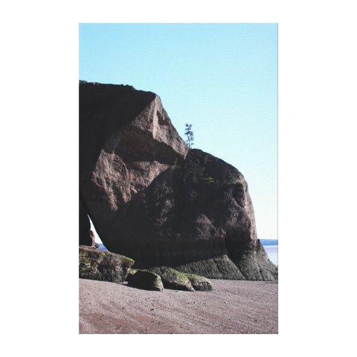 Coastal Shapes 2 Stretched Canvas Print