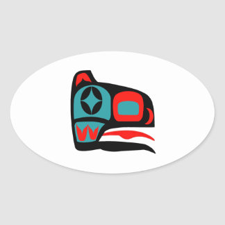 COASTAL SONG OVAL STICKER