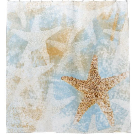 Coastal Starfish Print | Shower Curtain