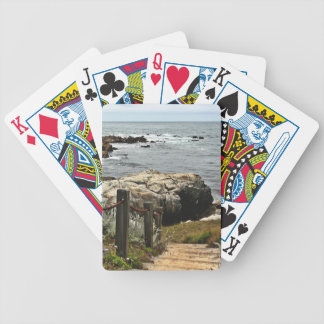 coastal steps zazzle bicycle playing cards
