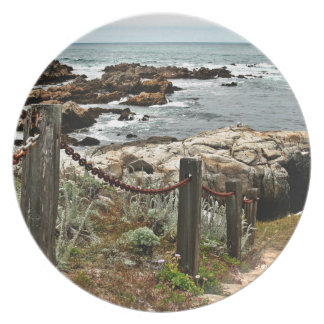 coastal steps zazzle party plates