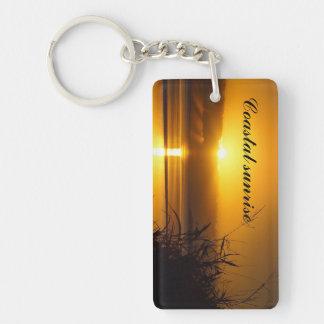Coastal sunrise keychain
