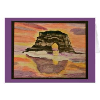 Coastal Sunset Watercolor Card