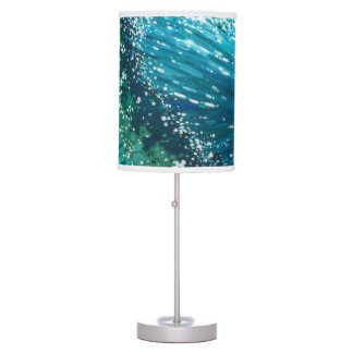 Coastal Surf Wave Table Lamp by Margaret Juul