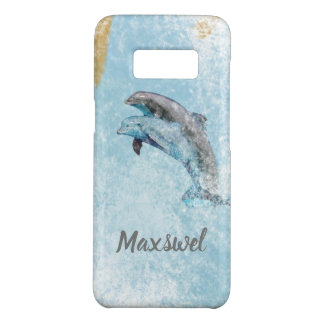 Coastal Theme Jumping Dolphins Art Case-Mate Samsung Galaxy S8 Case