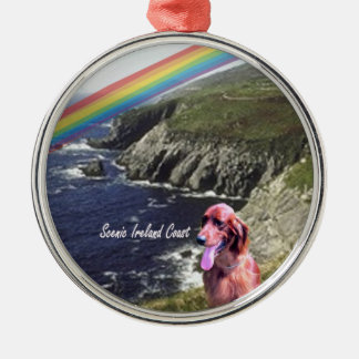 Coastal View Beautiful Scenic Ireland Silver-Colored Round Ornament