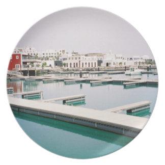 Coastal Views - Quiet Marina Dinner Plate