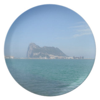 Coastal Views - The Rock of Gibraltar Party Plate