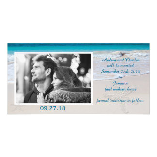 Coastal Vows Wedding Save the Date Personalized Photo Card