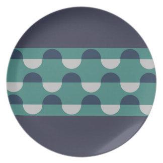 Coastal Waves Dinner Plates