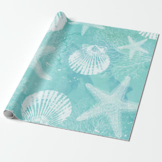 coastal wrapping paper