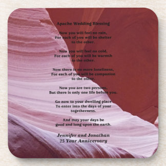 Coaster, Apache Wedding Blessing, Anniverary Gift Drink Coasters