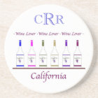 COASTER_CALIFORNIA WINE LOVER , MONOGRAM COASTER
