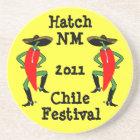 Coaster Chile Pepper Men in Boots & Bolos sombrero