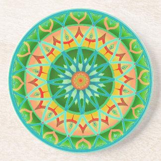 Coaster Circular Fantasy in Green