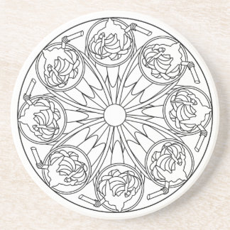 Coaster Color Your Own Coloring Book Design