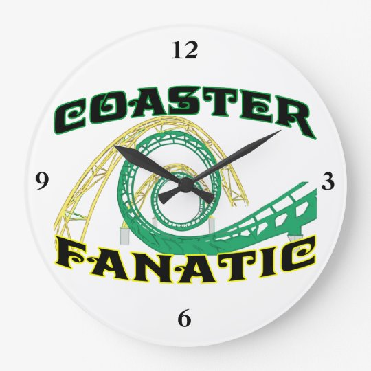 Coaster Fanatic Large Clock