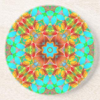 Coaster Floral Fractal Art G410