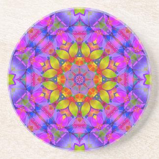 Coaster Floral Fractal Art G445