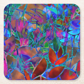 Coaster Floral Stained Glass