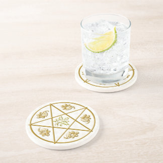 Coaster - Gold Pentacle & Holly & Oak #2