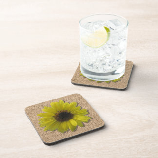 Coaster - Hard Plastic - Burlap & Sunflower