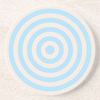 Coaster – Round – Buttermilk Cream & Light Blue